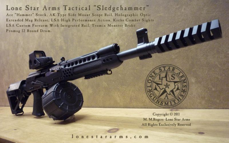 Lone Star Arms Sledge Hammer 3_4 Promag Drum
