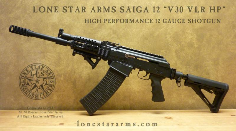"Lone Star Arms Saiga 12 ""V30 VLR HP"" Left Hand View"